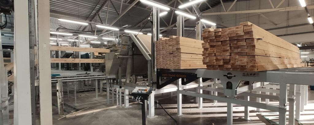 RTLS süsteem sobib suurepäraselt puidutööstusele, kus materjali hoiustamine toimub nii sise- kui ka välialal